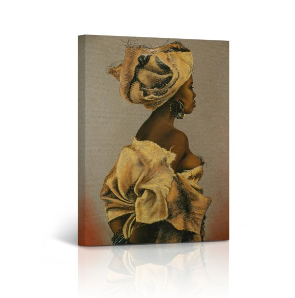 African Wall Art Woman Canvas Print Painting Home Decor