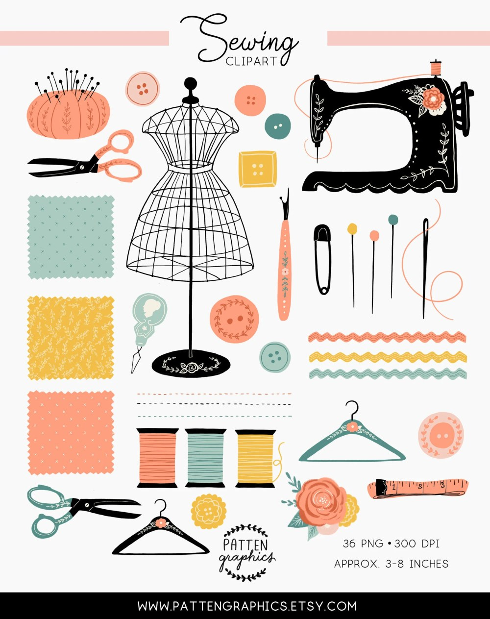 medium resolution of sewing clipart