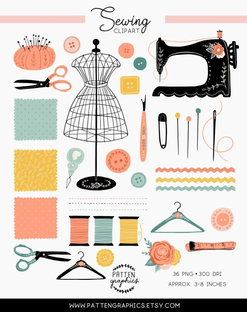 small resolution of sewing clipart
