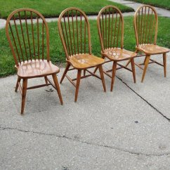 Antique Wood Chair Folding With Canopy Walmart Etsy Windsor Chairs 4 Spindle Back Table Was Sold Seperately