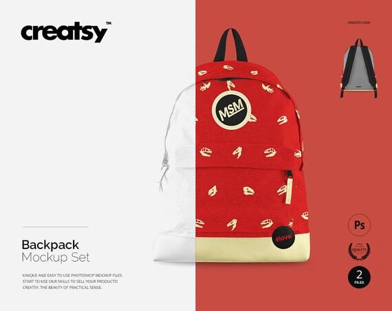Perfect for presenting your branding designs. Backpack Mockup Set Bagpack Template Custom School Bag Kids Download Free 45000 Svg Cut Files