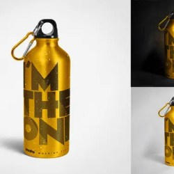 Aluminum Water Bottle Mockup Set Sport Bottles Mockup Travel Etsy