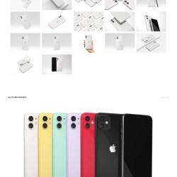 Iphone 11 Clear Case Mockup Set Creatsy Etsy
