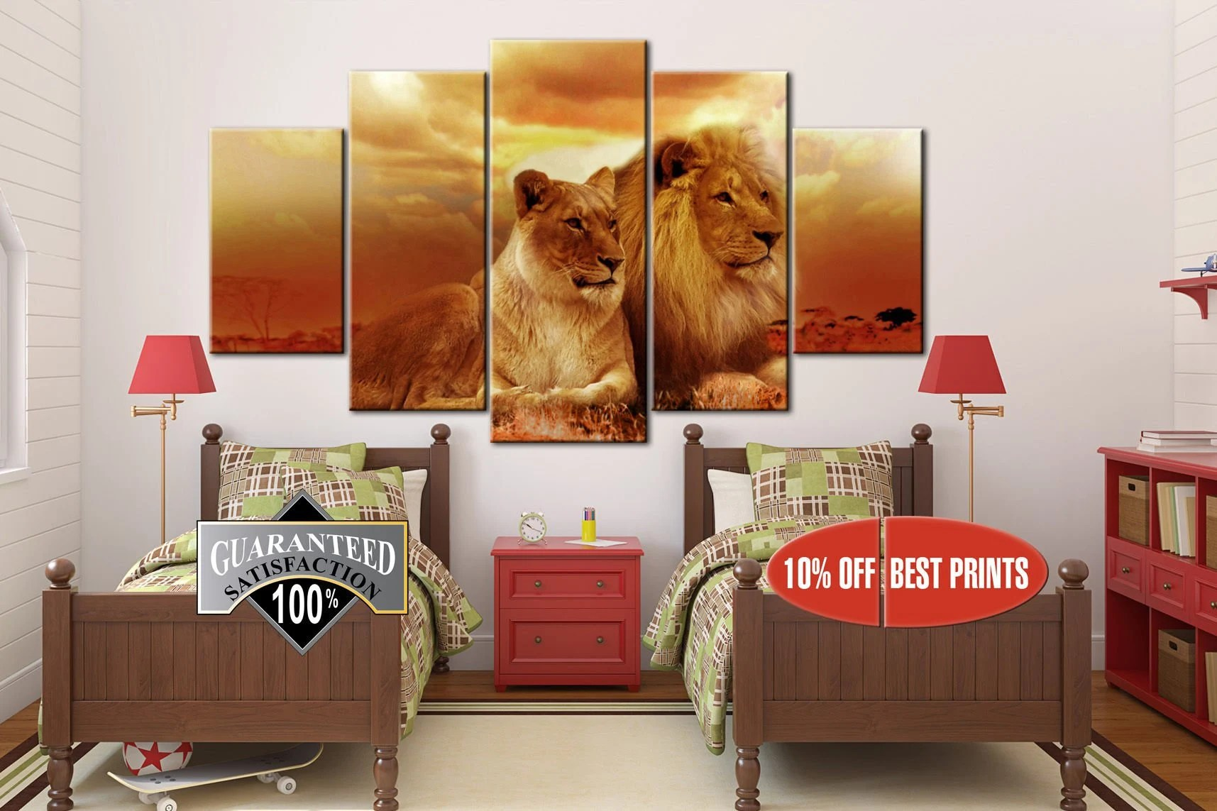 lioness canvas family of