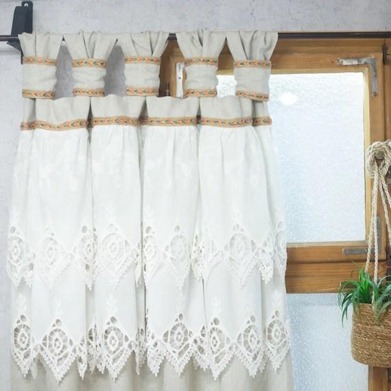 rideaux herisses en boheme et style shabby chic