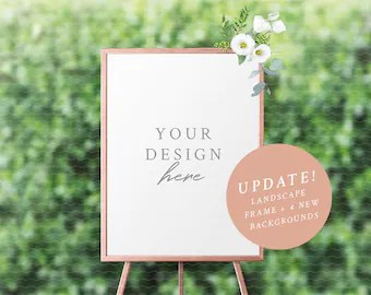 Wedding seating chart mockup  frame  easel sign table plan styled stock photography also etsy rh