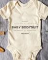 White Baby Bodysuit Mock Up Bodysuit Flatlay Baby Clothing Etsy