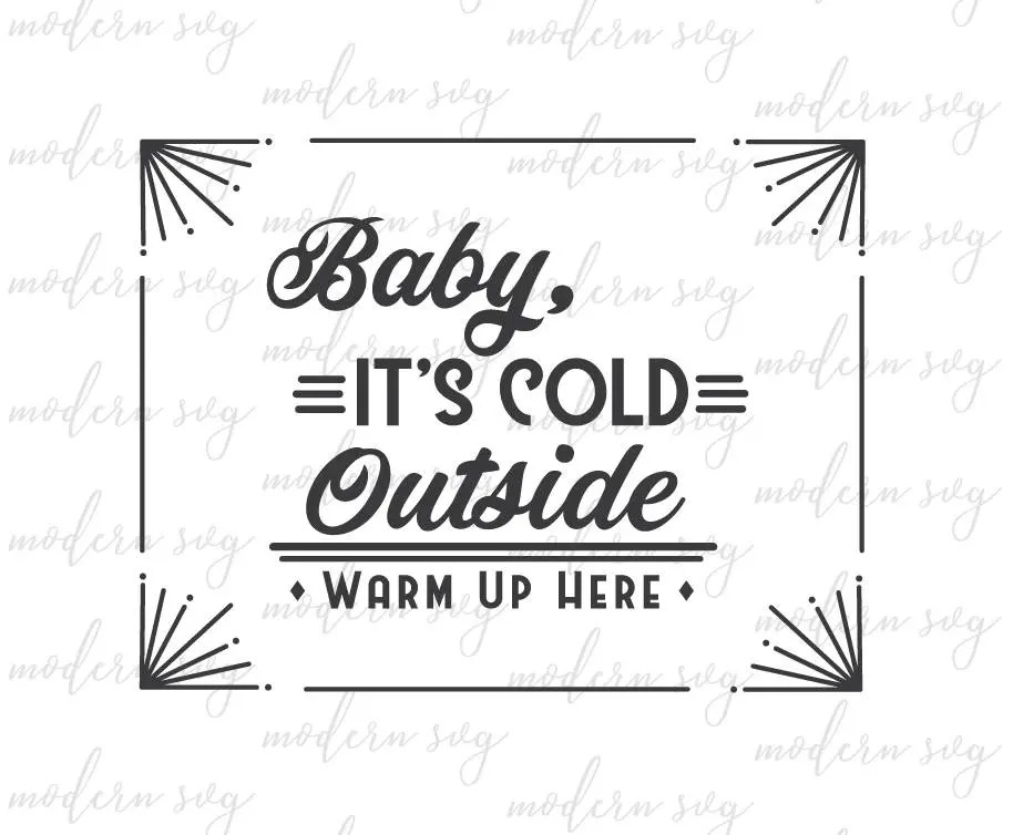 Download Baby It's Cold Outside Fixer Upper Christmas SVG Joanna   Etsy