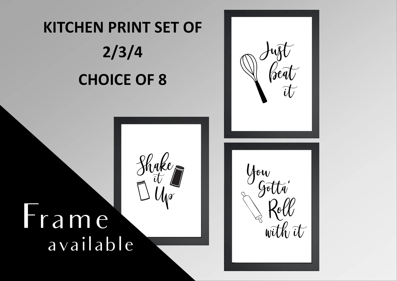 kitchen art prints small island print set wall etsy image 0