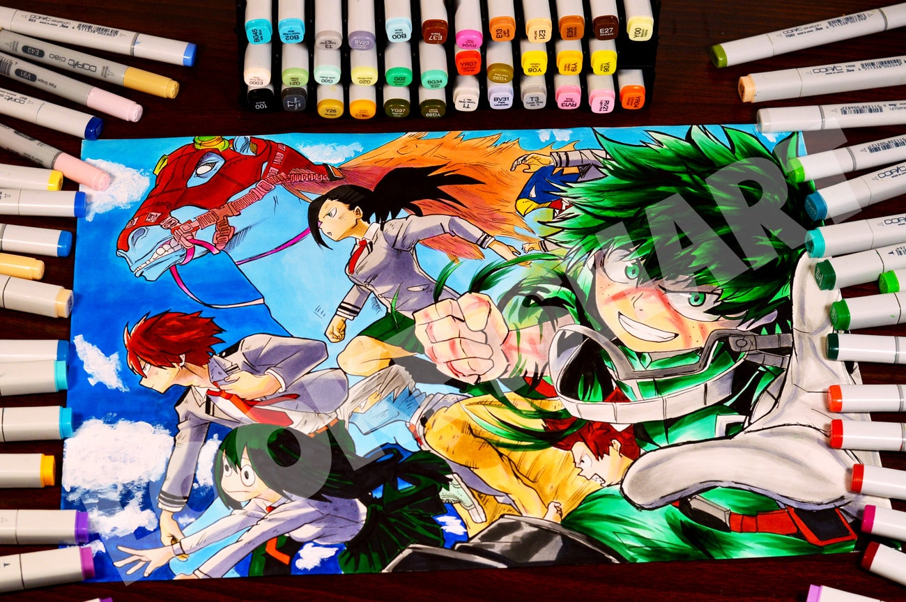 pics How To Draw My Hero Academia Characters Deku drawing boku no hero academia deku midoriya izuku characters quality print poster a3 quality print poster laminate