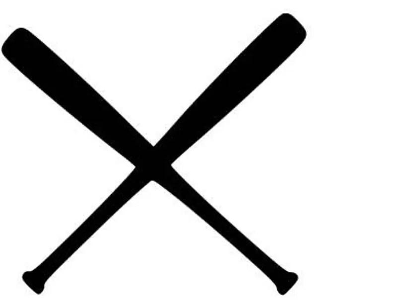 Download Baseball/Softball bats crossed SVG cutting file | Etsy