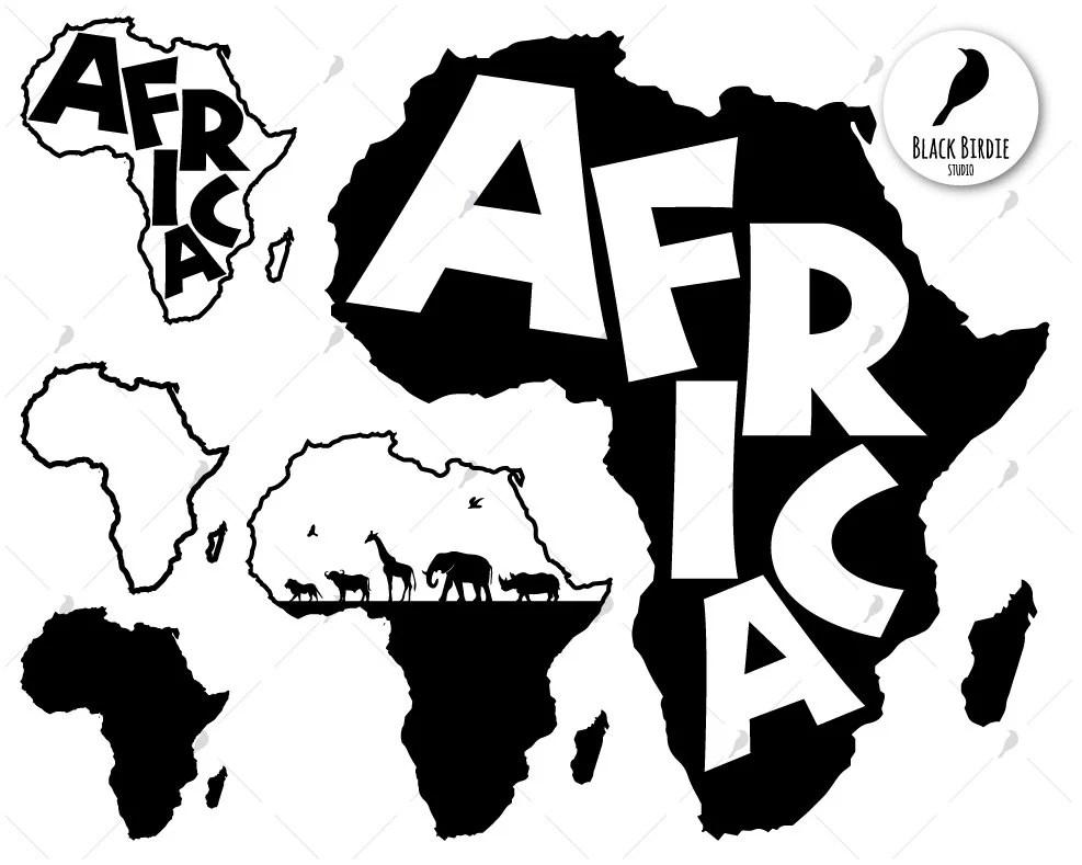 Africa svg africa clipart africa map svg black africa svg