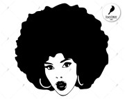 black woman svg clipart