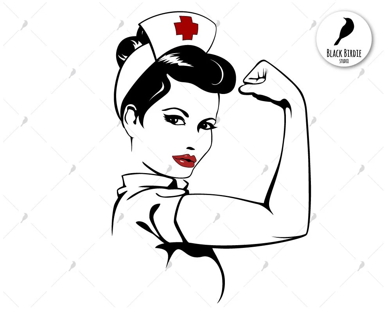 Rosie die Riveter Svg Krankenschwester Svg starke Frau Svg