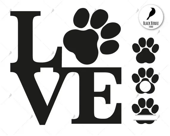 Download Love cat svg love cat clipart paw cat svg paw dog svg cat ...