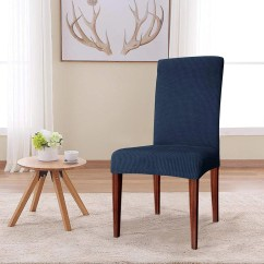 Dining Chair Slipcover Swivel Chairs For Sale Etsy Elegant Knitting Jacquard Box Cushion