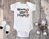 Mommy's Little Pumpkin Baby Bodysuit Toddler Shirt, Fall Shirt, First Halloween, Newborn Baby Outfit, Baby Shower Gift, Take Home Outfit
