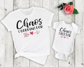 Set of 2, Mommy and Me Outfits, Chaos Coordinator, Chaos Creator Matching Set, mama & me, mom and daughter, mom and son
