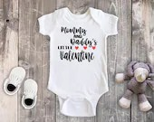Mommy and Daddy's Little Valentine Baby Bodysuit, Toddler Shirt, Baby Girl, Baby Boy, Newborn Baby Outfit, Baby First Valentines Day