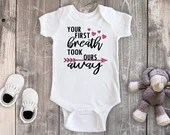 Your First Breath Took Ours Away Bodysuit, Newborn Baby Outfit, Baby Shower Gift, Take Home Outfit, Hospital Outfit
