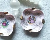 Decorative dishes (2) - Lovers (for altar accessories or offerings) (vintage)