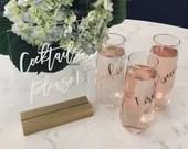 Bridesmaid Champagne Glasses   Bridesmaid Gift   Personalized Bridesmaid Gift   Glass Champagne Flute   Bridesmaid Proposal