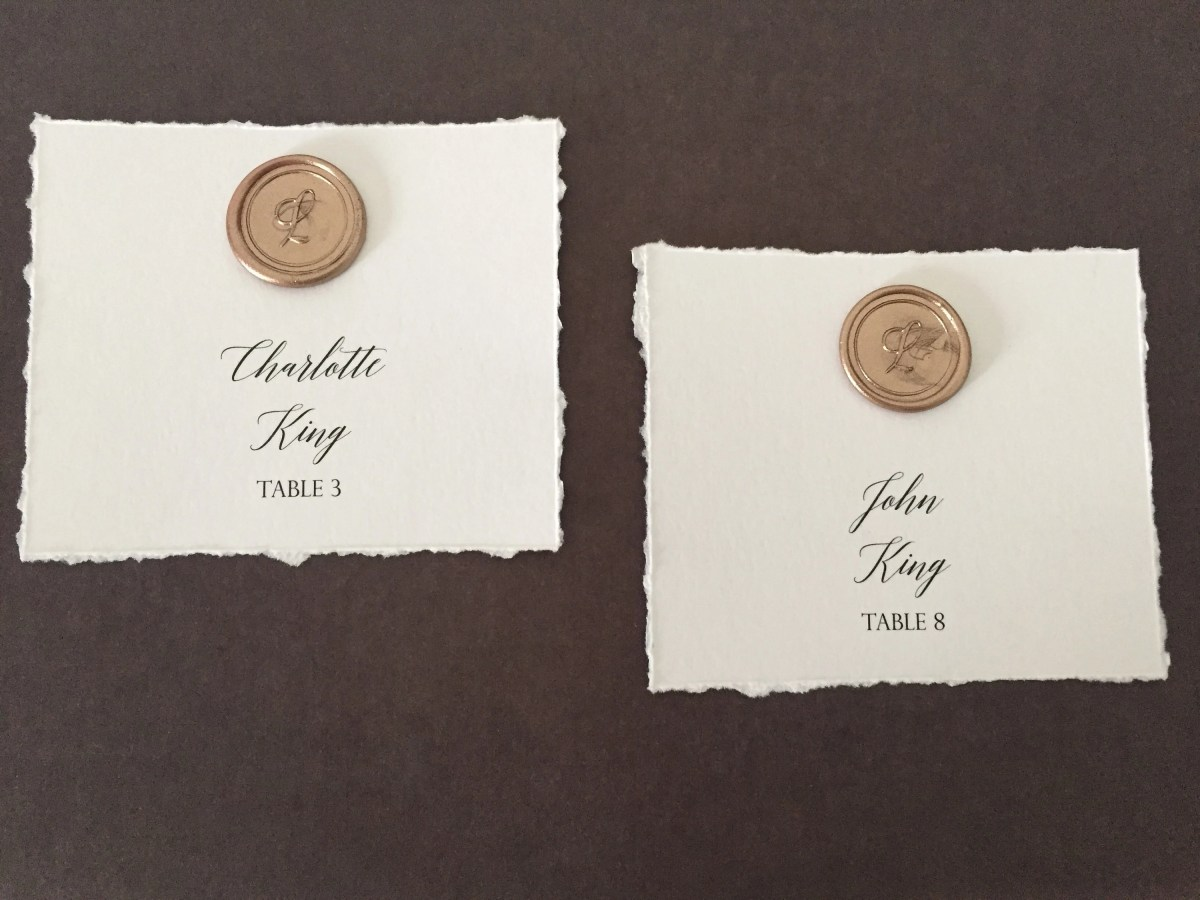 Wax Seal Place Cards | We...