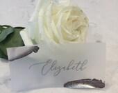 Vellum Foil Place Cards | Silver Wedding Place Cards | Vellum Escort Cards | Silver Foil Place Cards | Modern Place Cards | Foil Escort Card