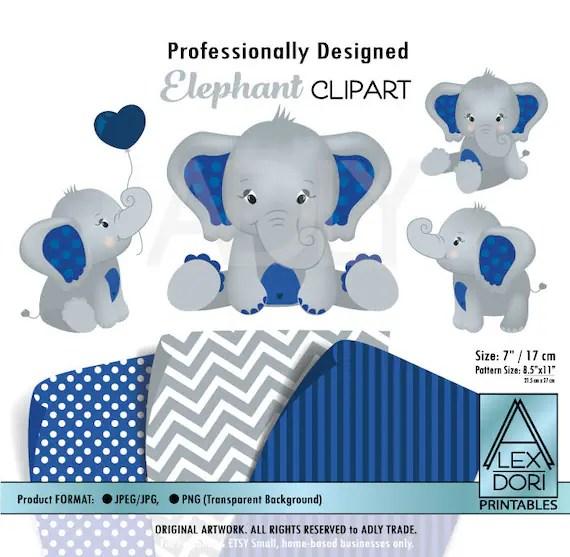 navy blue elephants clip art peanut