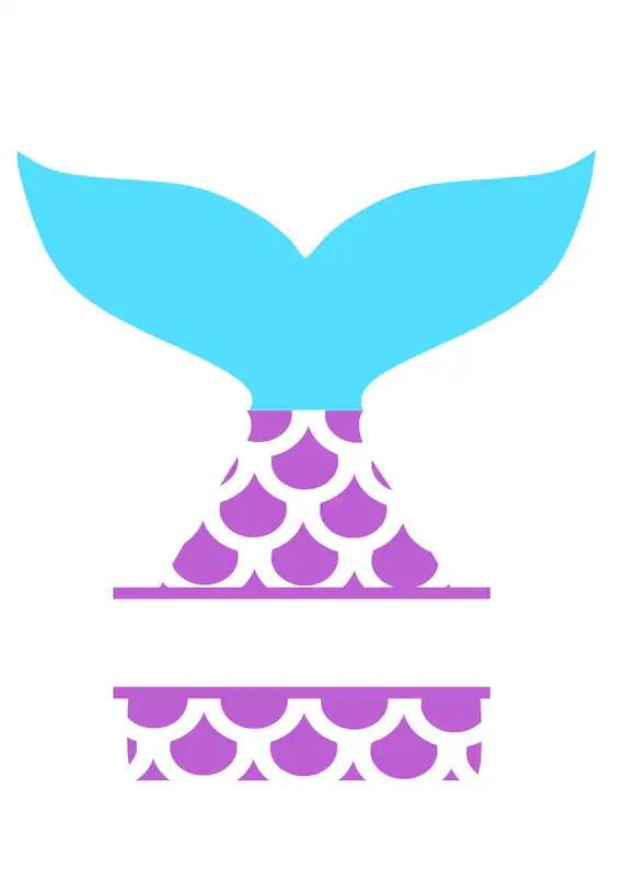 Monogram Mermaid Svg : monogram, mermaid, Mermaid, Monogram, Files