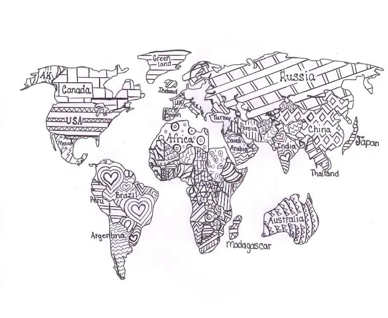 World Map Printables For Kids