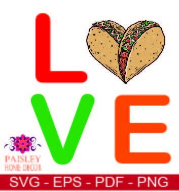 Download Tacos svg Love Tacos svg Taco Love Tacos I Love Tacos | Etsy