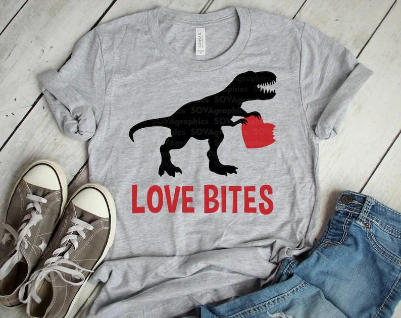 Download Love Bites svg Valentines Day svg Dinosaur svg T-Rex svg ...