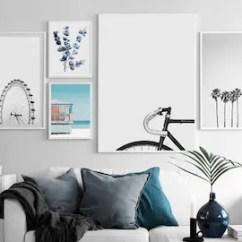 Living Room Art Decor Simple Wall Decoration Ideas For Etsy Beach Set Of 5 Blue White Prints Gallery Bike Boy