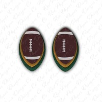 Earrings SVG Football Leather Earrings Football Earring | Etsy