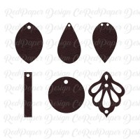 Cricut Earrings SVG Faux Leather Earrings SVG Joanna ...