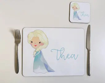 placemats personalized children etsy