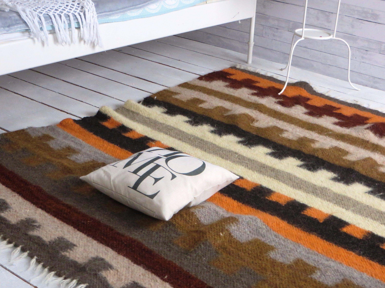 Wool Rug Bedroom Rug Woven Rug Organic Wool Area Rug Hand Woven Wool Area Rug Wool Rugs Home Living Wool Carpet Living Room Rug Gift For Mom
