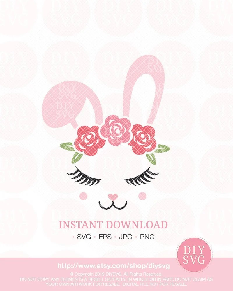Bunny Face Svg : bunny, Bunny, Easter, Files,, Shirt,, Vector, Catch, Party