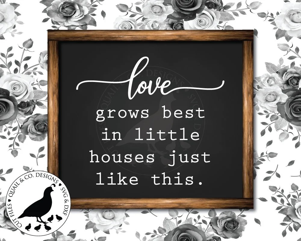Download Love Grows Best svg Family svg Little Houses svg Cut files ...