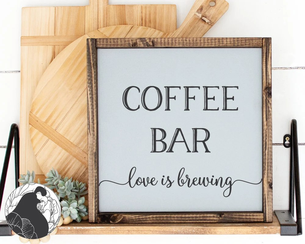Download Svg Files Coffee Bar Love is Brewing svg Coffee Bar svg | Etsy