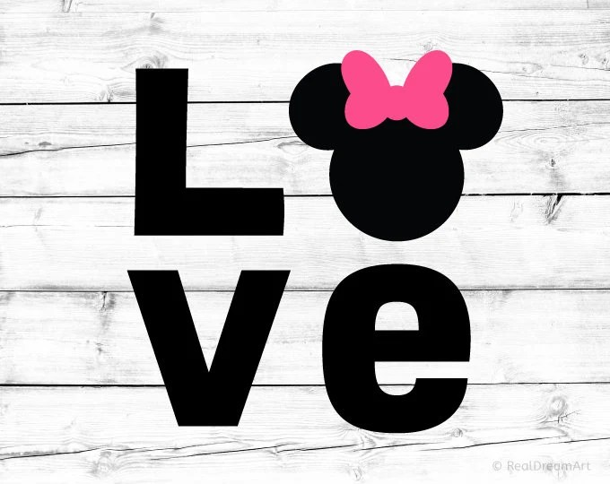 Download Minnie Mouse Svg Love Svg Love Minnie Svg Minnie Mouse | Etsy