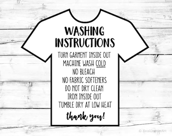 Washing Instructions Svg Care Instructions Card Svg Shirt