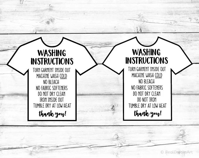 Washing Instructions Svg Bundle Care Instructions Card Svg