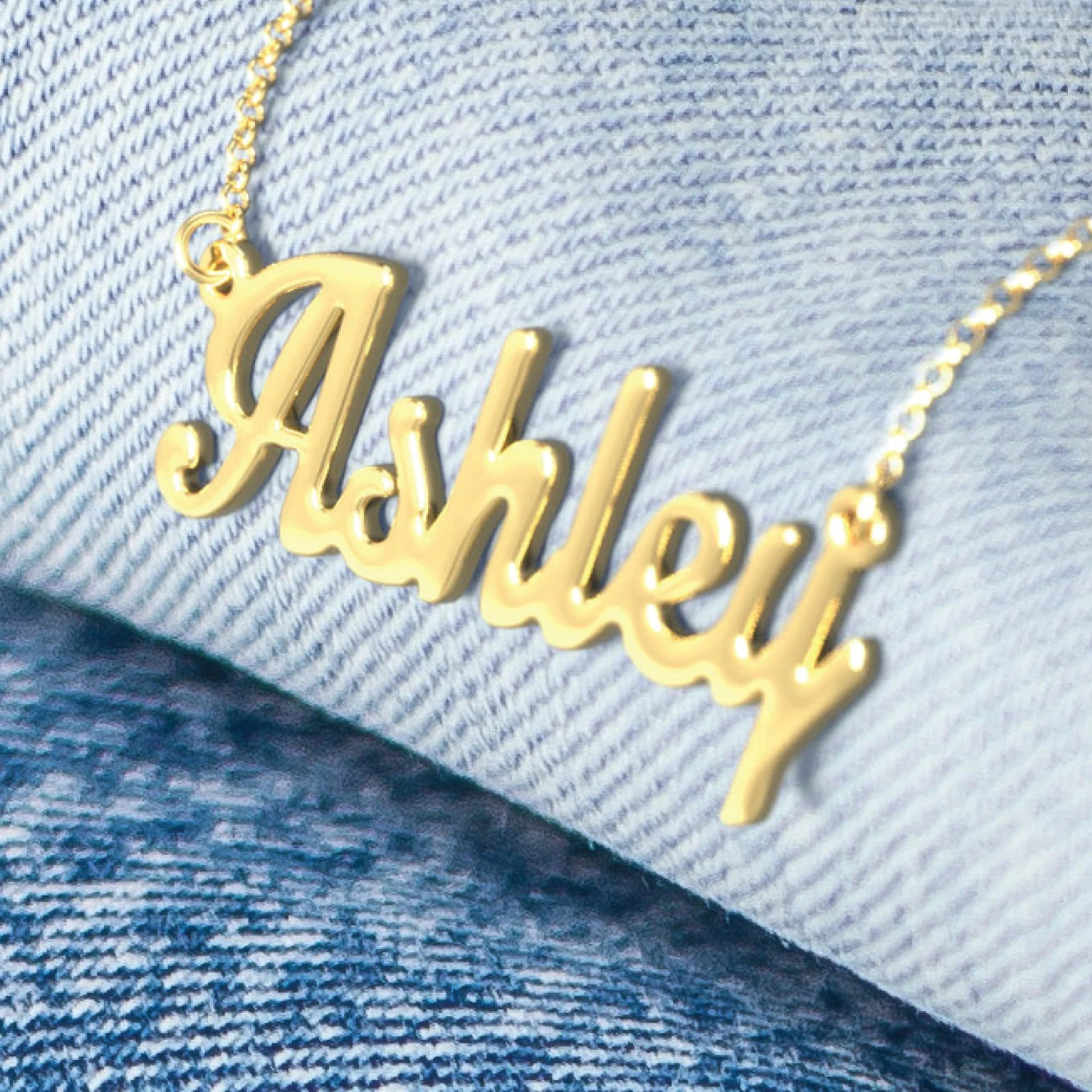 10K & 14K Solid Gold Never Plated Personalized Name image 2