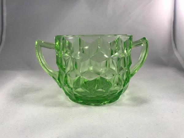 Jeannette Glass Company Ultramarine Green Depression