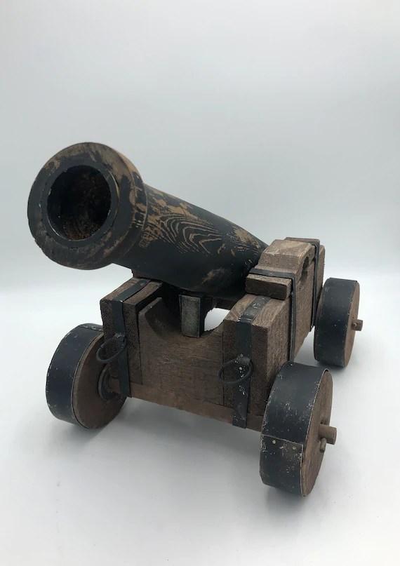 Toy Cannon That Shoots : cannon, shoots, Large, Vintage, Model, Cannon, Artillery, Decor