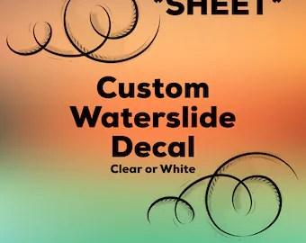 Custom Waterslide Decals Uk