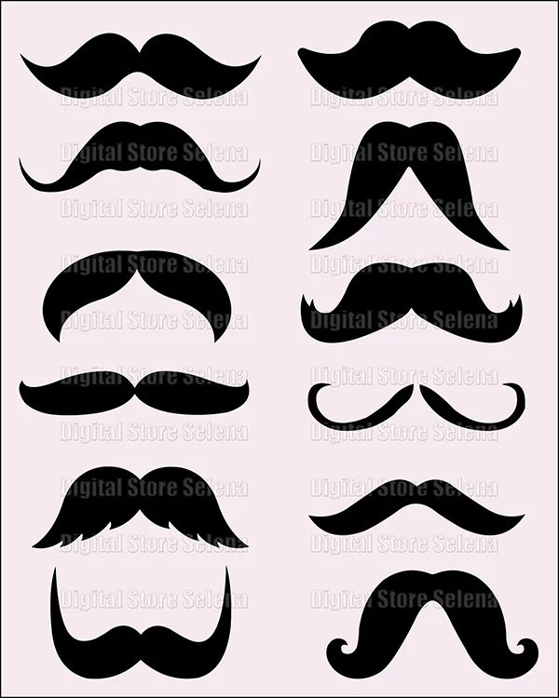 medium resolution of moustache clipart
