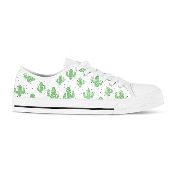 Cactus Shoes Custom Cactus Print Sneakers Vegan Shoes